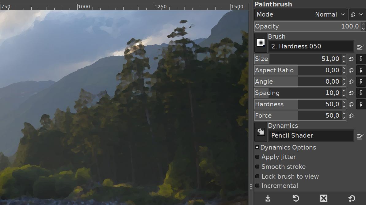 Für GIMP 2.10.18 wurden die Schieberegler überarbeitet