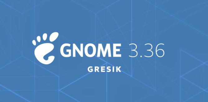 Bild der Ankündigung von GNOME 3.36