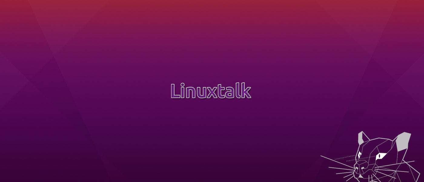 Linuxtalk Wallpaper mit Focal Fossa Maskottchen