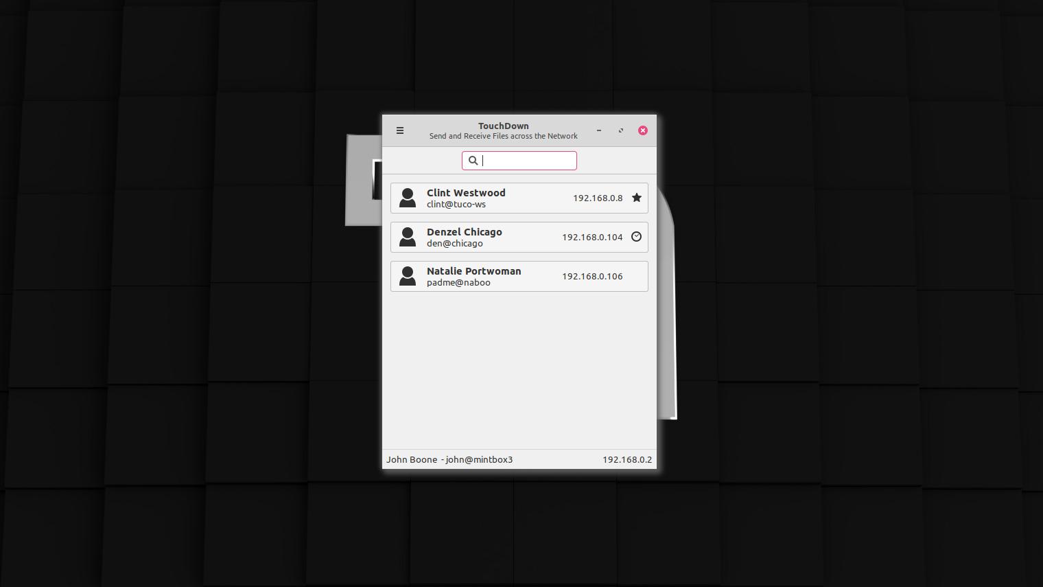 Das Hauptmenü bietet eine Übersicht aller Computer im Netzwerk